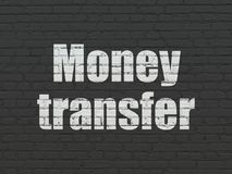Business concept: Money Transfer on wall background. Business concept: Painted white text Money Transfer on Black Brick wall background Royalty Free Stock Photos