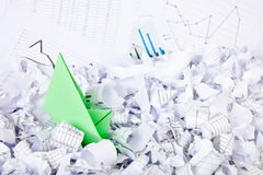 Business concept of paper boat and documents Stock Images