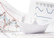 Business concept of paper boat Stock Image