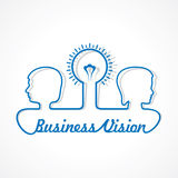 Business concept - people with bulb Royalty Free Stock Photo