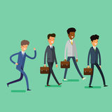 Business concept. People follow the leader Stock Images