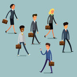 Business concept. People follow the leader Stock Photos