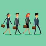 Business concept. People follow the leader Stock Image