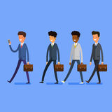 Business concept. People follow the leader Stock Photo