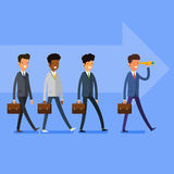 Business concept. People follow the leader Royalty Free Stock Images