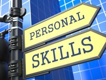 Business Concept. Personal Skills Roadsign. Stock Images