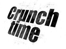 Business concept: Crunch Time on Digital background Stock Photos