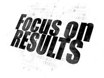 Business concept: Focus on RESULTS on Digital background Royalty Free Stock Images