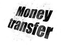 Business concept: Money Transfer on Digital background. Business concept: Pixelated black text Money Transfer on Digital background Royalty Free Stock Images