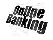 Business concept: Online Banking on Digital background Stock Image
