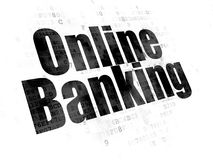 Business concept: Online Banking on Digital background. Business concept: Pixelated black text Online Banking on Digital background Royalty Free Stock Images