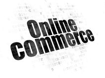 Business concept: Online Commerce on Digital background. Business concept: Pixelated black text Online Commerce on Digital background Royalty Free Stock Photos