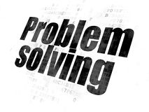 Business concept: Problem Solving on Digital background. Business concept: Pixelated black text Problem Solving on Digital background Royalty Free Stock Images