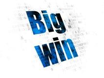 Business concept: Big Win on Digital background. Business concept: Pixelated blue text Big Win on Digital background Royalty Free Stock Images