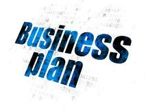Business concept: Business Plan on Digital background. Business concept: Pixelated blue text Business Plan on Digital background Royalty Free Stock Image