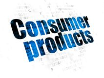 Business concept: Consumer Products on Digital background. Business concept: Pixelated blue text Consumer Products on Digital background Royalty Free Stock Photography