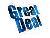 Business concept: Great Deal on Digital background Royalty Free Stock Photography
