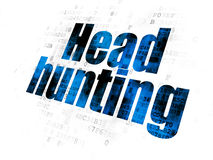 Business concept: Head Hunting on Digital background. Business concept: Pixelated blue text Head Hunting on Digital background Stock Photo