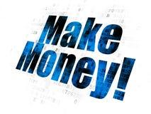 Business concept: Make Money! on Digital background. Business concept: Pixelated blue text Make Money! on Digital background Stock Images