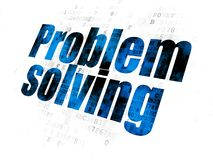 Business concept: Problem Solving on Digital background. Business concept: Pixelated blue text Problem Solving on Digital background Royalty Free Stock Photography