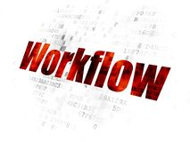 Business concept: Workflow on Digital background stock image