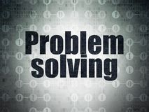 Business concept: Problem Solving on Digital Data Paper background. Business concept: Painted black text Problem Solving on Digital Data Paper background with Royalty Free Stock Photography