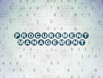 Business concept: Procurement Management on. Business concept: Painted blue text Procurement Management on Digital Paper background with Binary Code, 3d render Stock Images