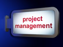 Business concept: Project Management on billboard background. Business concept: Project Management on advertising billboard background, 3D rendering Stock Images
