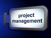 Business concept: Project Management on billboard background. Business concept: Project Management on advertising billboard background, 3D rendering Royalty Free Stock Images