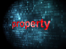 Business concept: Property on digital background. Business concept: pixelated words Property on digital background, 3d render Stock Images