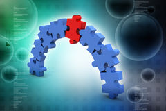 Business concept puzzle Stock Photo