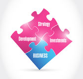 Business concept puzzle pieces illustration Royalty Free Stock Photo