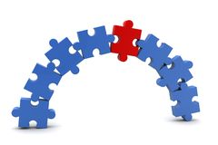 Business concept puzzle Royalty Free Stock Image