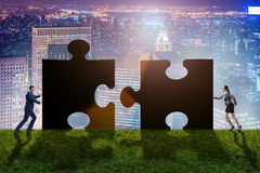 The business concept of puzzles for teamwork Royalty Free Stock Photos
