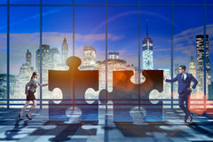 The business concept of puzzles for teamwork Royalty Free Stock Image