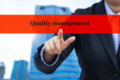 Business concept (Quality management) Royalty Free Stock Photos