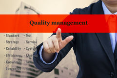 Business concept with Quality management message. Royalty Free Stock Photography