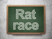 Business concept: Rat Race on chalkboard background. Business concept: text Rat Race on Green chalkboard on grunge wall background, 3D rendering Royalty Free Stock Photography