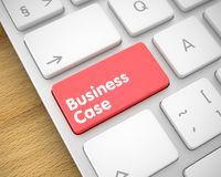Business Case - Text on the Red Keyboard Keypad. 3D. Business Concept. Red Keypad on the Metallic Keyboard. Modern Laptop Keyboard Button Showing the Royalty Free Stock Photography