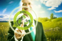 Business concept reduce reuse recycle Royalty Free Stock Photos