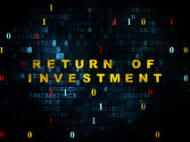 Business concept: Return of Investment on Digital Royalty Free Stock Image