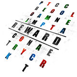 Business concept: Reward in Crossword Puzzle Royalty Free Stock Image