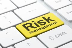 Business concept: Risk Management on computer keyboard background Stock Photo