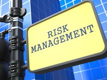 Business Concept. Risk Management Roadsign. Royalty Free Stock Photo