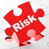 Business concept: Risk on puzzle background Royalty Free Stock Image