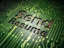 Business concept: Send Resume on circuit board background Stock Image
