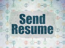 Business concept: Send Resume on digital Stock Photo
