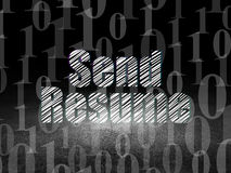 Business concept: Send Resume in grunge dark room Stock Images