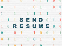 Business concept: Send Resume on wall background Stock Photo