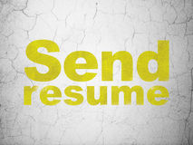Business concept: Send Resume on wall background Royalty Free Stock Photo